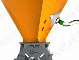 Система обрушения свода. Бункер (силос с установленным вибровентилятором).