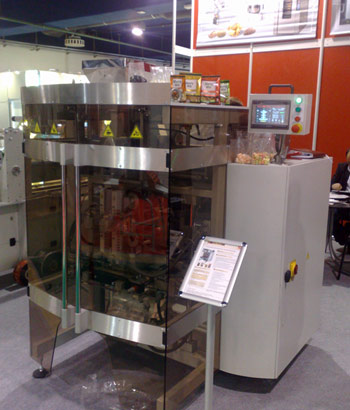 вертикальный упаковочный автомат Sbi 260-Business на выставке Продэкспо-2014